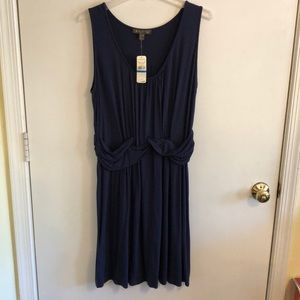 NWT Tommy Bahamas navy dress w self belt